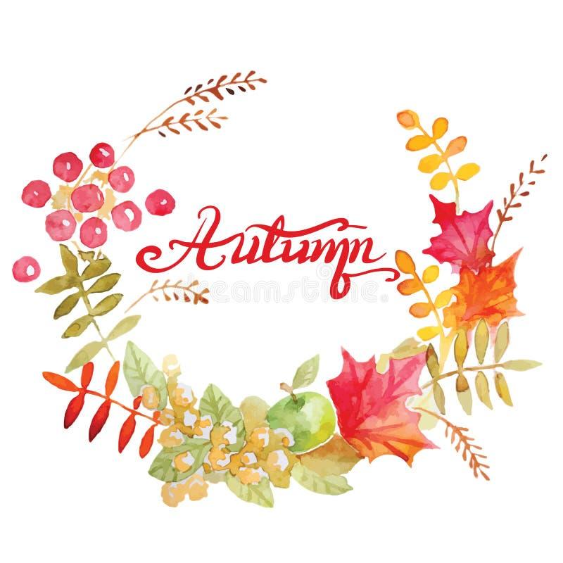 De kleurrijke kroon van de herfstbladeren royalty-vrije illustratie