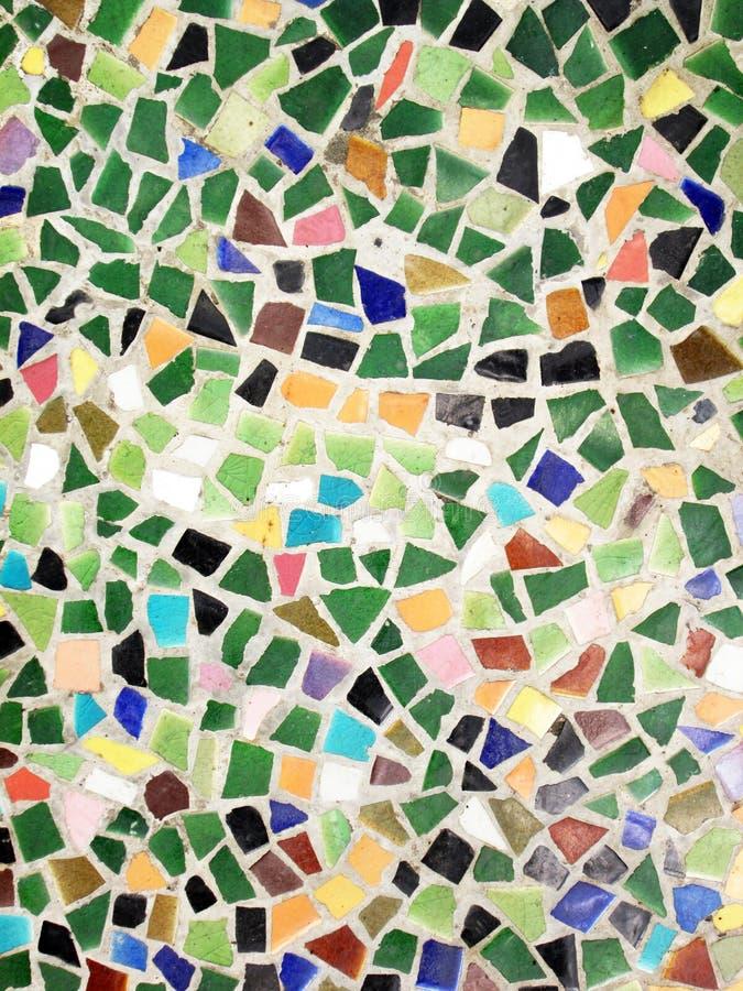 De kleurrijke kunst van het glasmozaïek en abstracte muurachtergrond stock fotografie