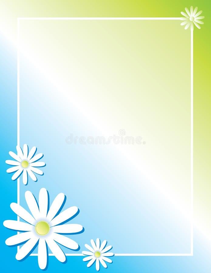 De kleurrijke Lente Daisy Border Background voor Affiche stock illustratie