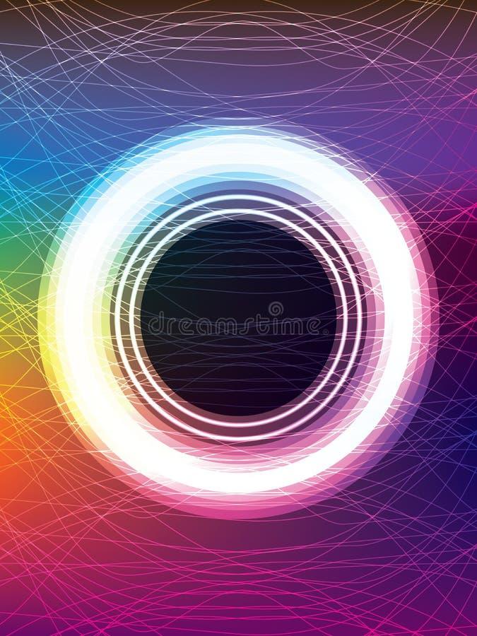 De kleurrijke lijn van de cirkelknoop vector illustratie