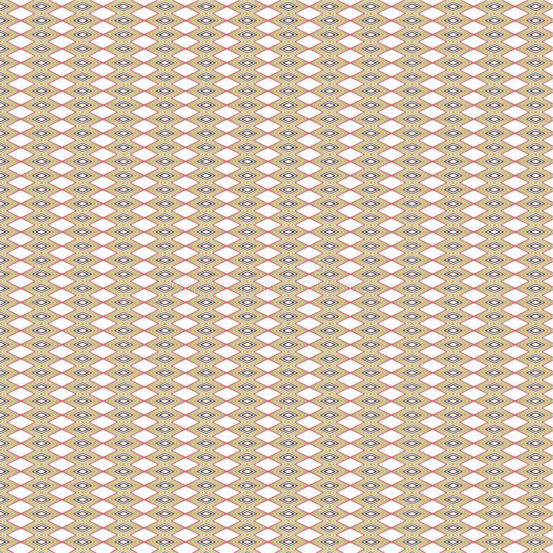 De kleurrijke Moderne Achtergrond van Tegelsdiamond rhombus native ethnic pattern stock illustratie