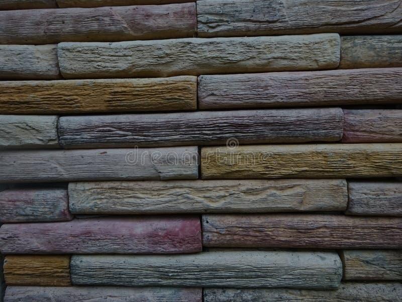 De kleurrijke Muur van de Steen royalty-vrije stock foto's