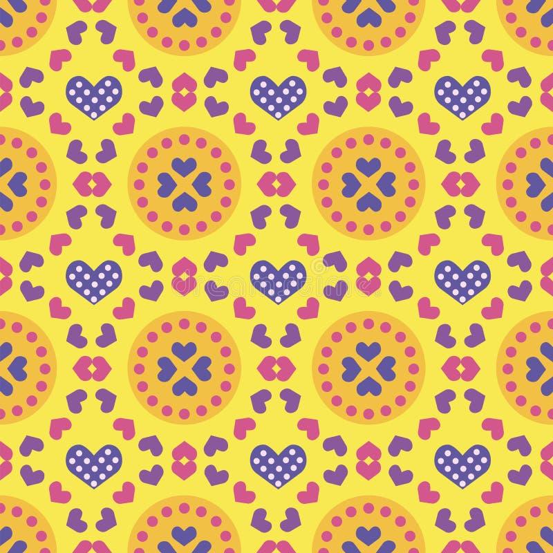 De kleurrijke naadloze dag van patronenvalentine vector illustratie