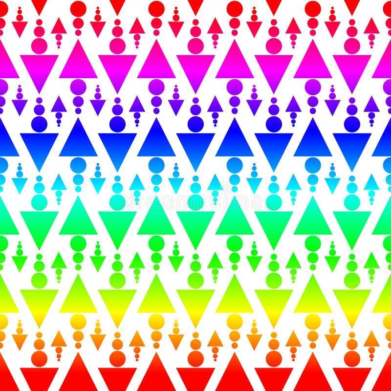 De kleurrijke naadloze textuur van driehoekspijlen vector illustratie