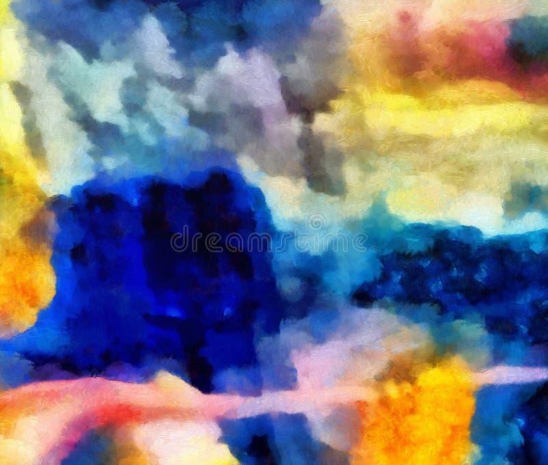 De kleurrijke olie en waterverfachtergrond voor het creëren van unieke producten en verfraait originele drukken Ruw mooi patroon  vector illustratie