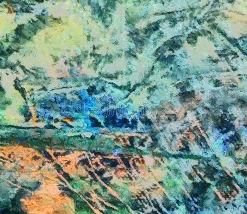 De kleurrijke olie en waterverfachtergrond voor het creëren van unieke producten en verfraait originele drukken Ruw mooi patroon  stock illustratie