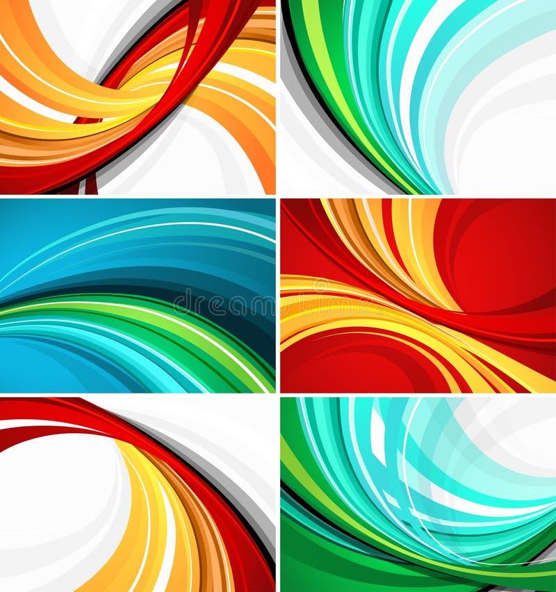 De kleurrijke ontwerpen van het wervelingspatroon royalty-vrije illustratie