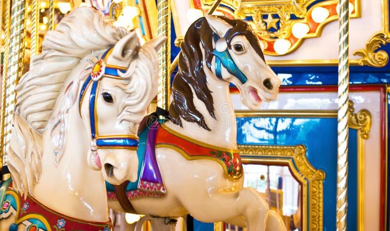 De kleurrijke Paarden van de Carrousel royalty-vrije stock foto