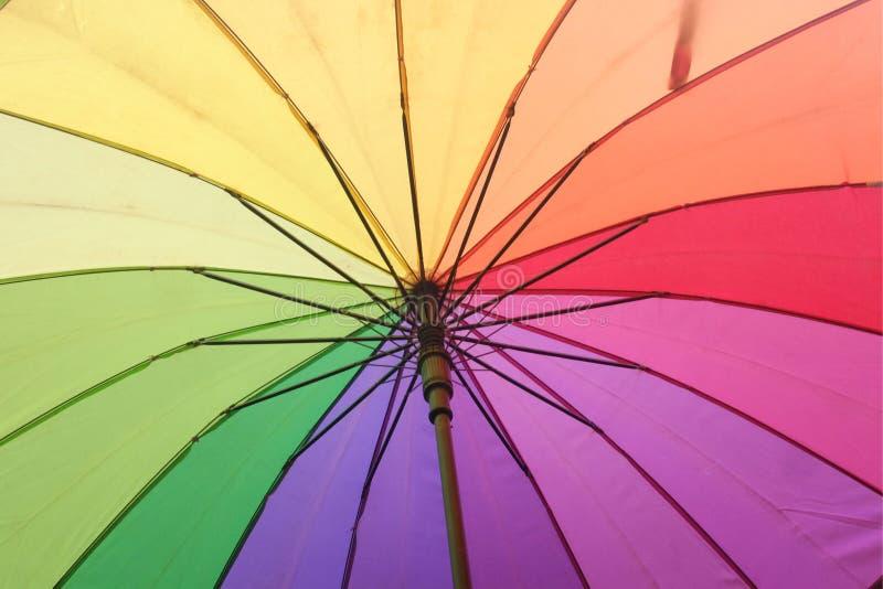 De kleurrijke paraplu royalty-vrije stock foto's