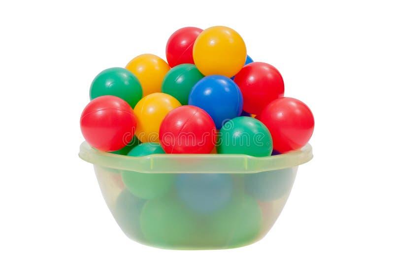 De kleurrijke Plastic Ballen van het Stuk speelgoed royalty-vrije stock foto