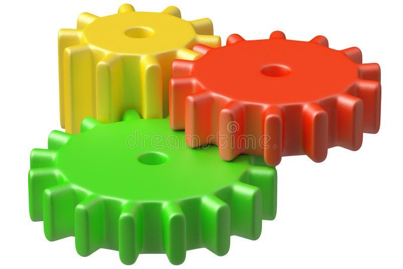 Download De Kleurrijke Plastic Bouw Van Speelgoedtandraderen. Stock Illustratie - Illustratie bestaande uit technologie, machine: 39117687