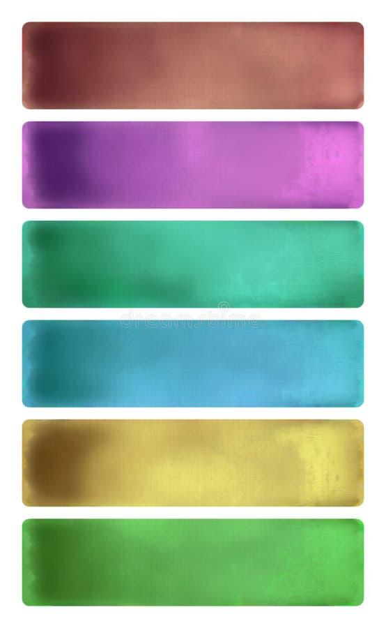 De kleurrijke reeks van de waterverf geweven banner vector illustratie