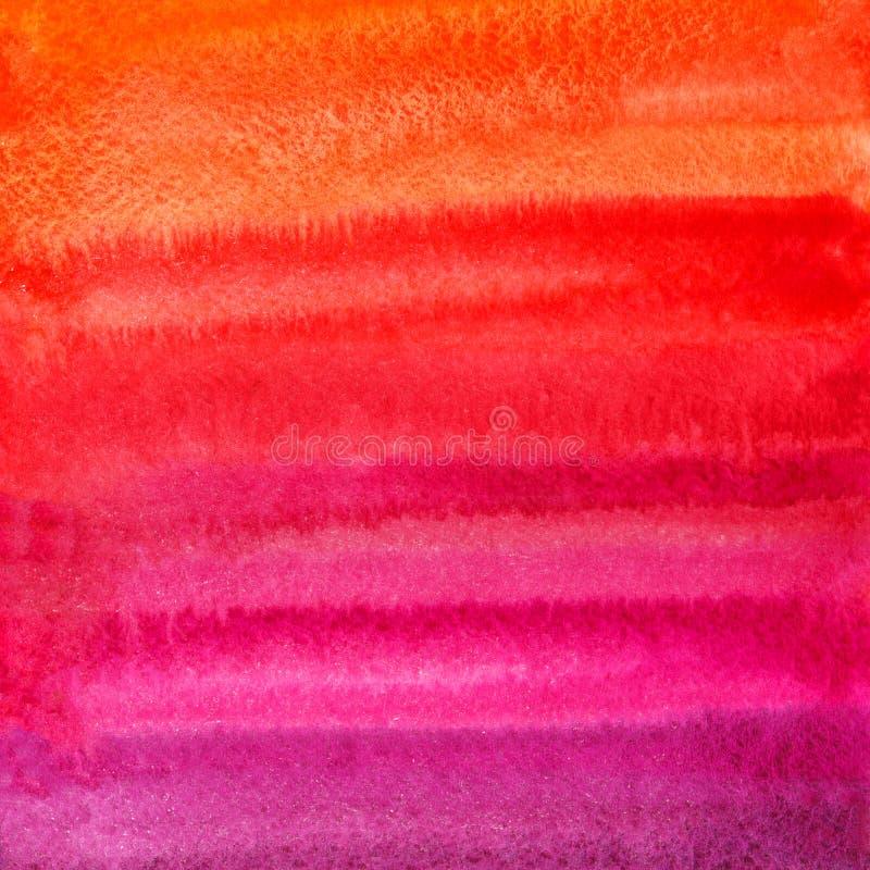 De kleurrijke rode, roze, lilac achtergrond van waterverfvlekken royalty-vrije stock foto