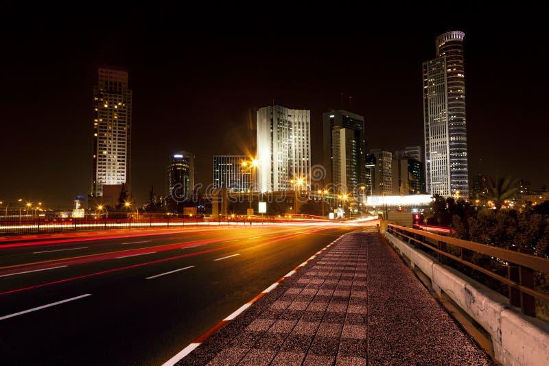 Ingang de van de binnenstad van het District bij Nacht royalty-vrije stock fotografie