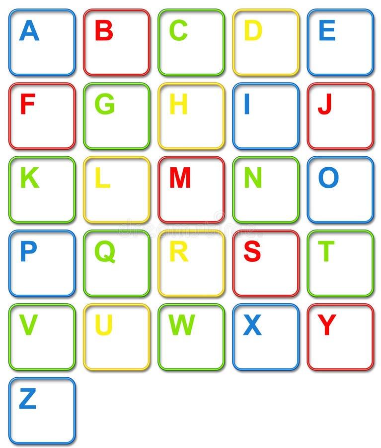 De kleurrijke Sleutels van het Toetsenbord van de Computer vector illustratie