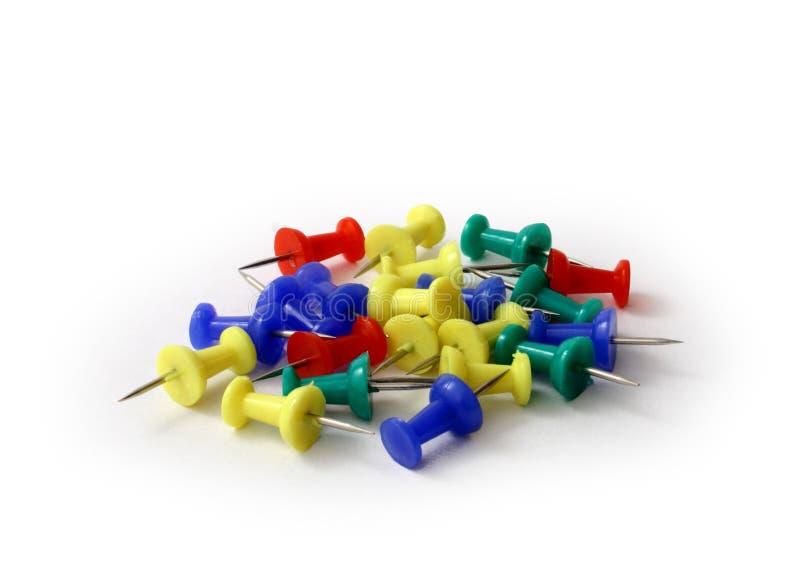 Download De Kleurrijke Spelden Van De Duw Over Wit Stock Foto - Afbeelding bestaande uit up, kleurrijk: 278938