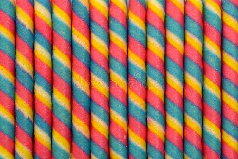 De kleurrijke stok van het wafeltjebroodje pattren achtergrond royalty-vrije stock fotografie