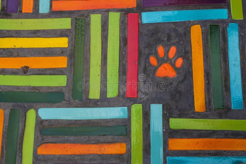 De Kleurrijke textuur van de muurkeramische tegel stock afbeeldingen