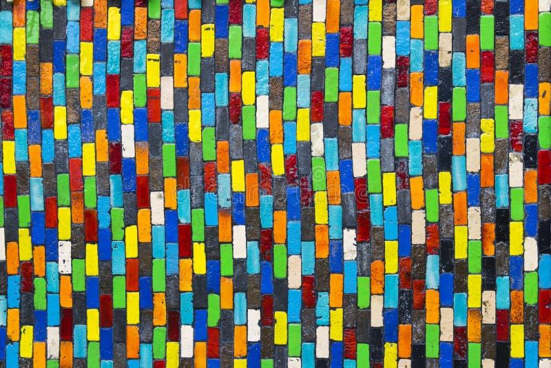 De Kleurrijke textuur van de muurkeramische tegel royalty-vrije stock fotografie