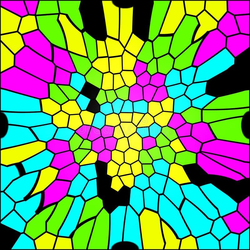 De kleurrijke textuur van het glasmozaïek vector illustratie
