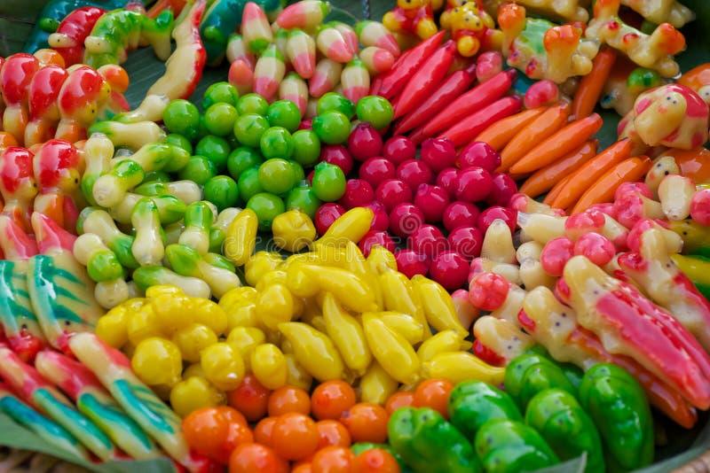 De kleurrijke Thaise Snoepjes royalty-vrije stock afbeeldingen