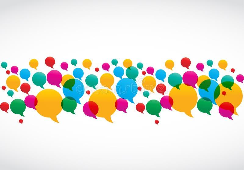 De kleurrijke Toespraak borrelt het Sociale Concept van Media royalty-vrije illustratie