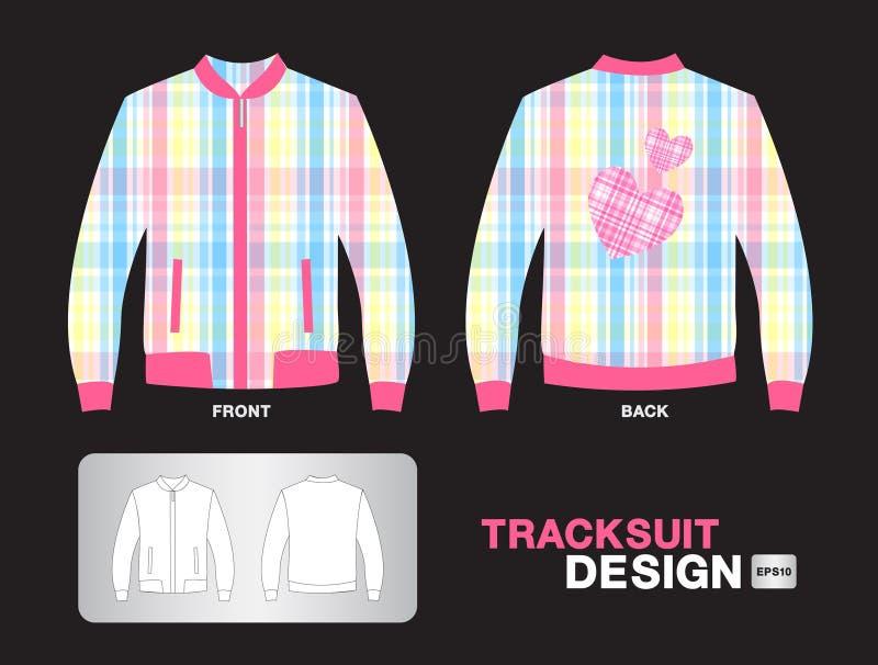 De kleurrijke van het het ontwerpjasje van de plaidbovenkledij van de de illustratiesport vectorkleren van het de t-shirt eenvorm royalty-vrije illustratie