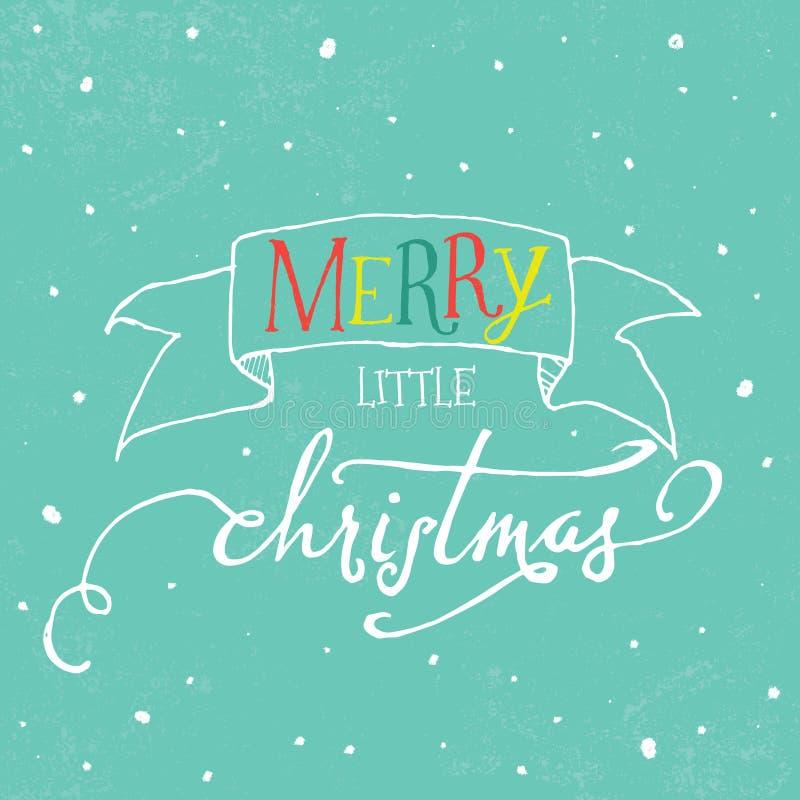 De kleurrijke van letters voorziende kaart van de Kerstmisgroet vector illustratie