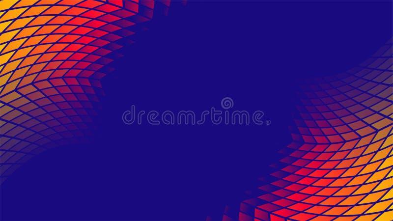 De kleurrijke vectorachtergrond van het gradiënt geometrische patroon royalty-vrije illustratie