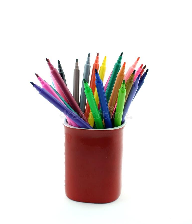De kleurrijke Vilten pennen van het Uiteinde royalty-vrije stock foto's