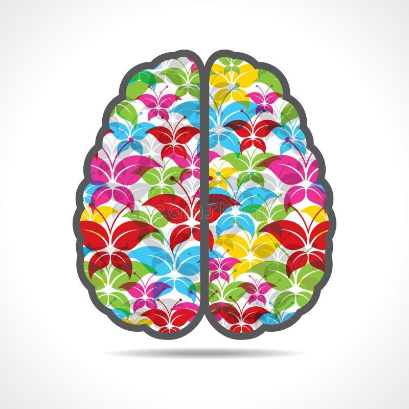 De kleurrijke vlinder maakt een mening of hersenen royalty-vrije illustratie