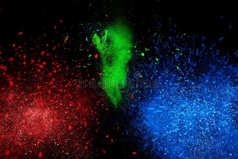 De kleurrijke wolk van de poederexplosie vector illustratie