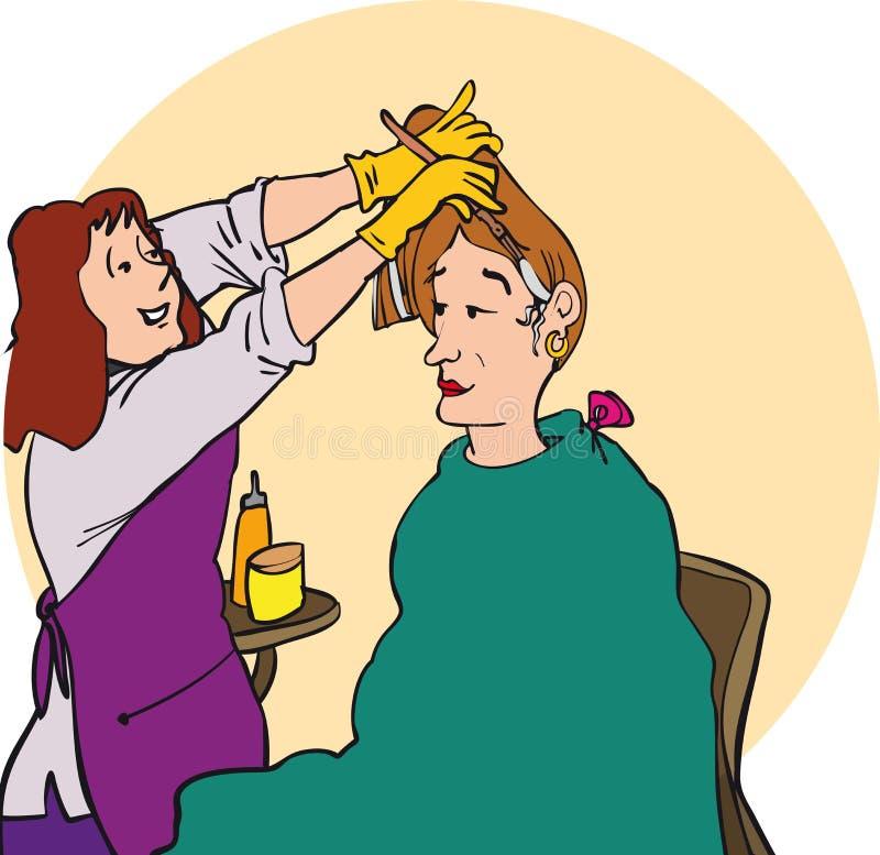 De kleurstof van het haar royalty-vrije illustratie