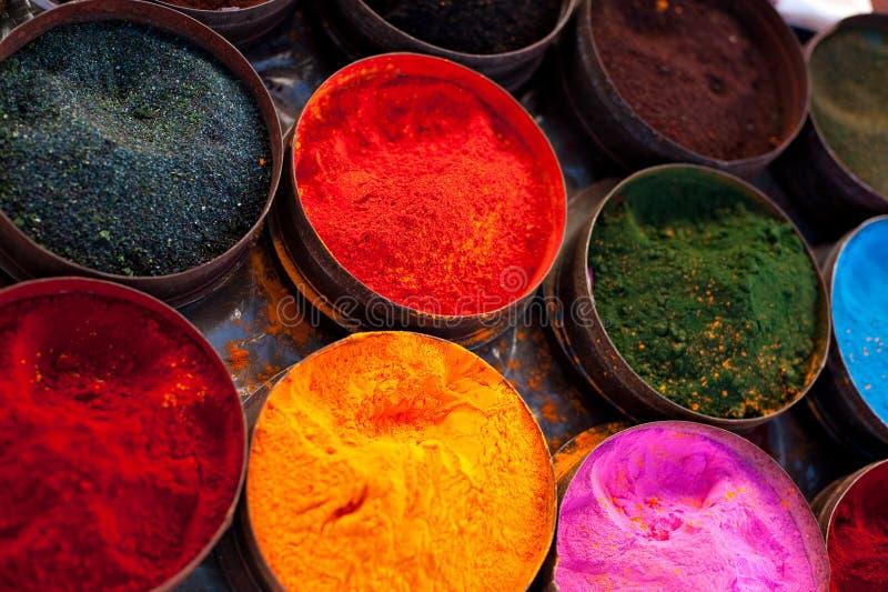 De kleurstoffen van de stof in Peru royalty-vrije stock foto's