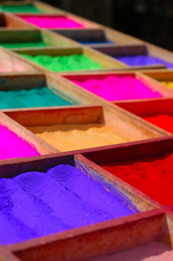De Kleurstoffen van het poeder royalty-vrije stock fotografie
