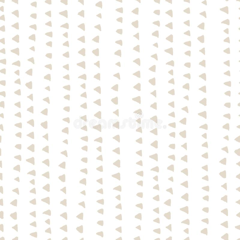 De kleurstofpatroon van de WatercolorTriangleband De achtergrond van de Shiboriindigo De palmpatroon van Duitsland Exotisch naadl vector illustratie