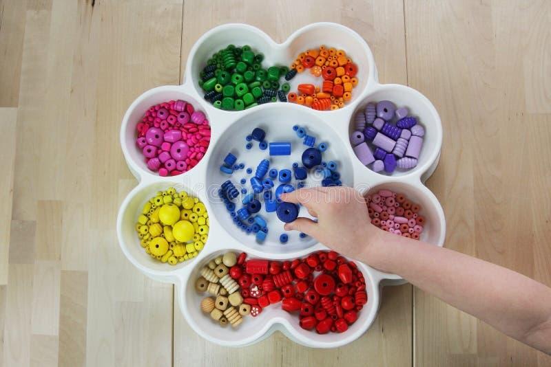 De kleuterschool van Montessori stock foto's