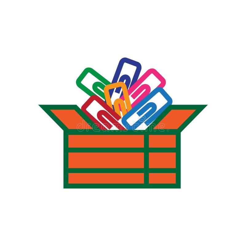 De kleverige die vector van het notapictogram op witte achtergrond, Kleverig notateken, kleurrijke materiaalsymbolen wordt geïsol stock illustratie