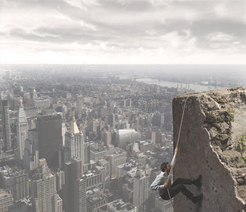 De klim aan het succes stock afbeelding