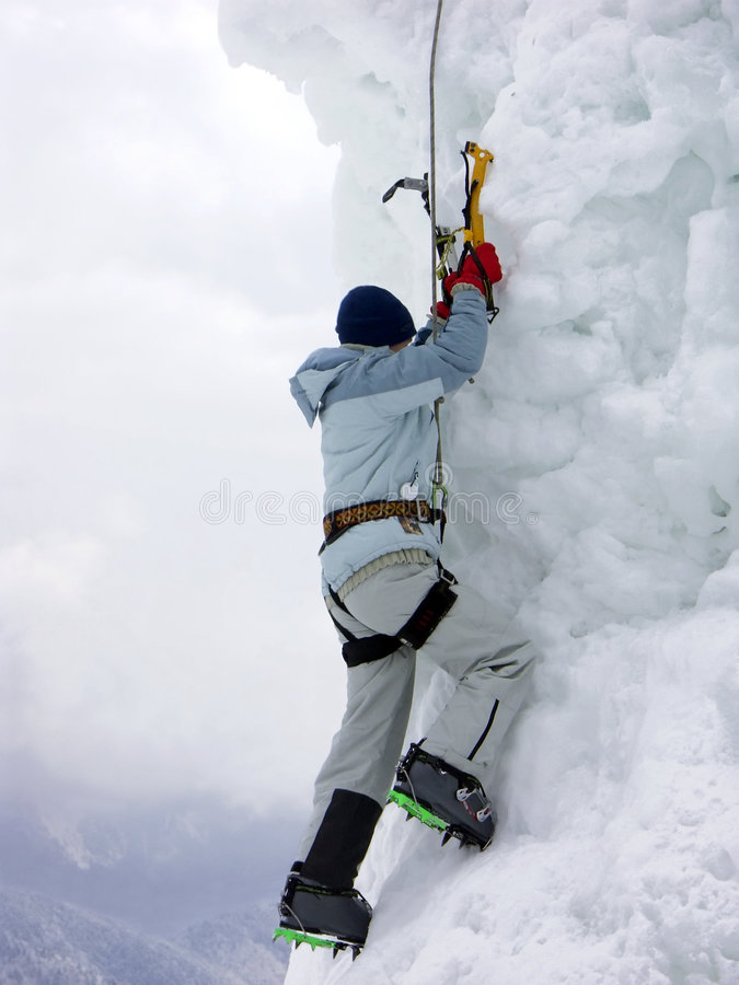 De klimmer van de ijsberg royalty-vrije stock foto's