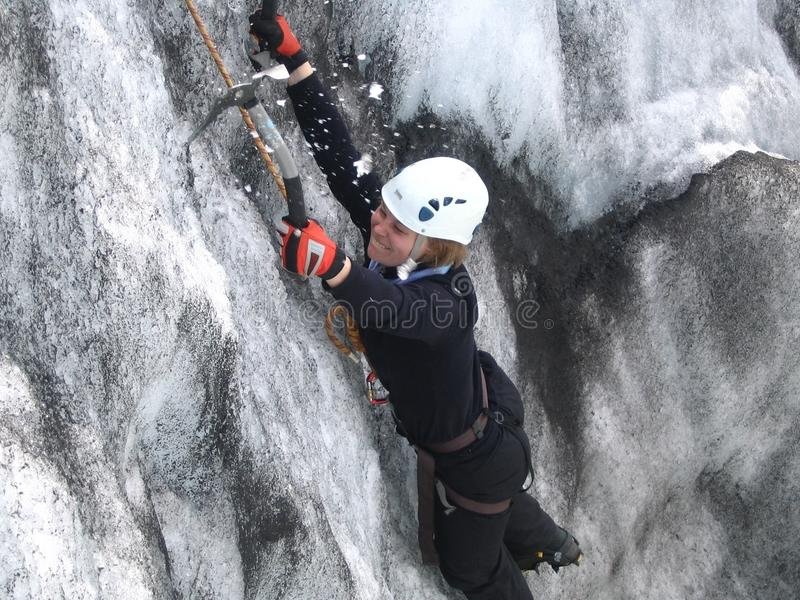 De Klimmer van het ijs royalty-vrije stock foto's