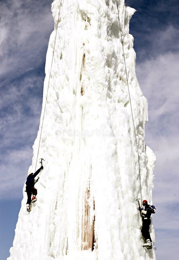 De Klimmers van het ijs royalty-vrije stock afbeelding