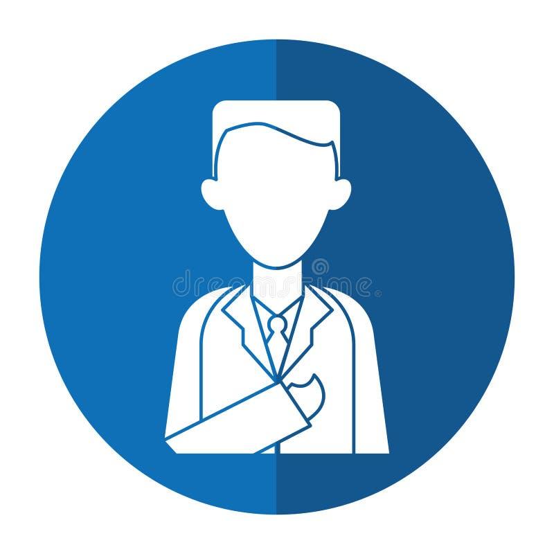 De kliniek van de artsenberoepsbeoefenaar met schaduw vector illustratie