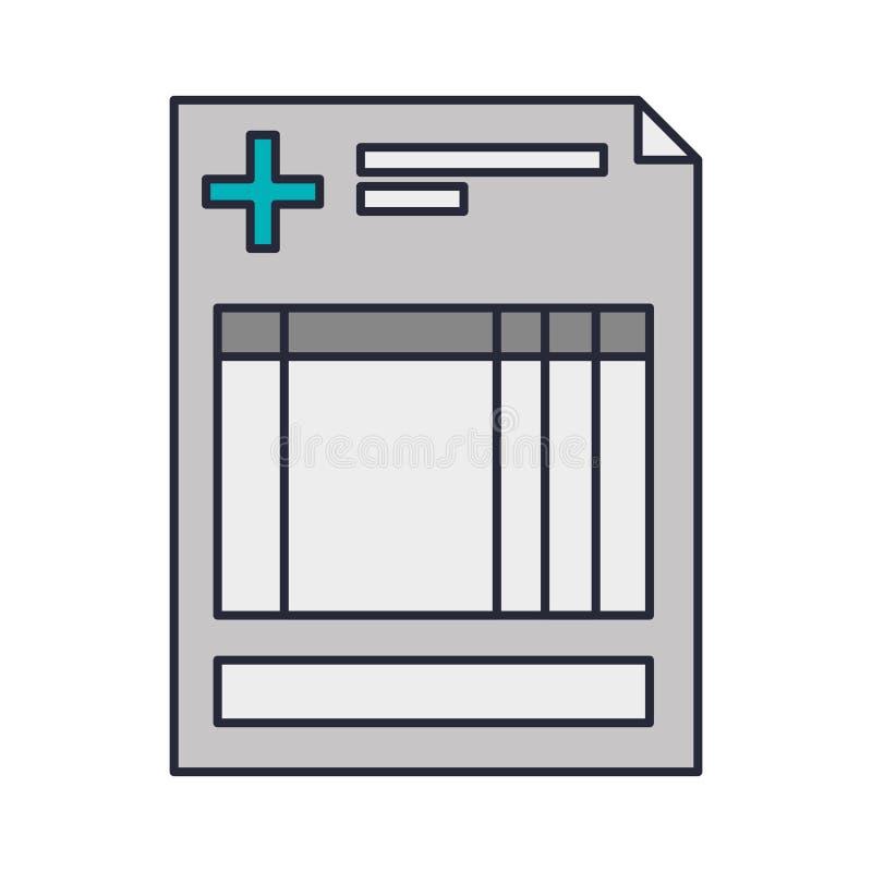 De kliniek van het geschiedenisblad met kruis vector illustratie