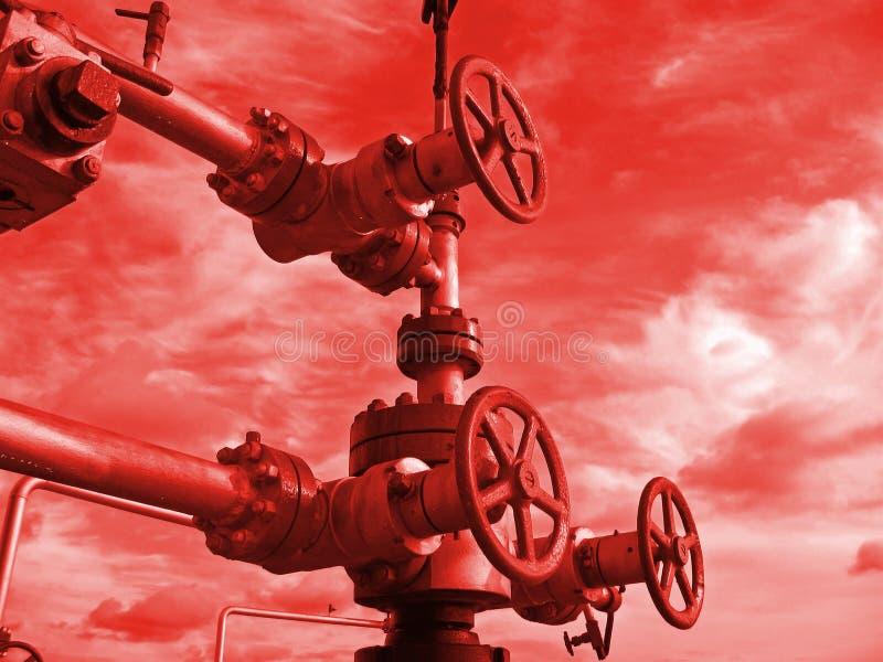De klink van de olie stock fotografie