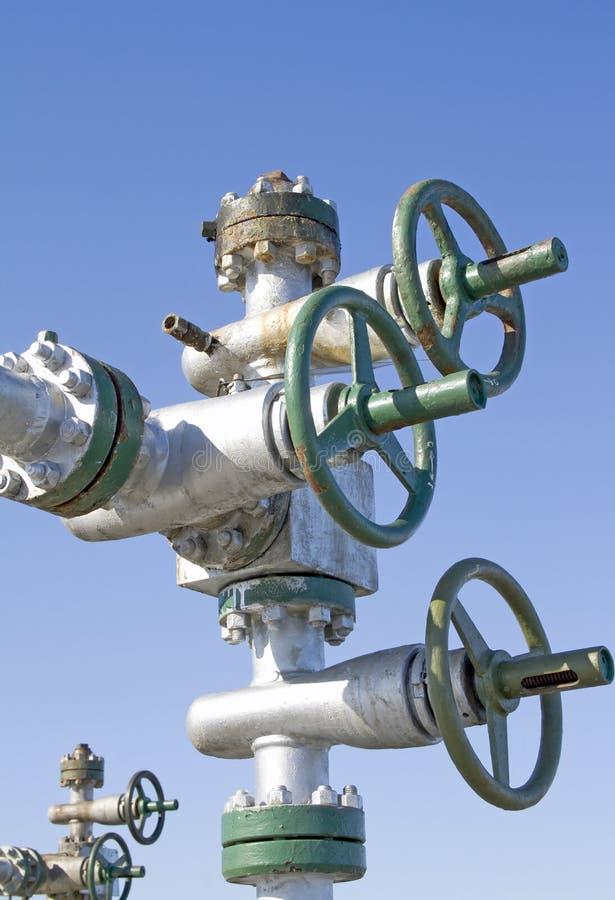 De klink van de oliepomp stock afbeelding