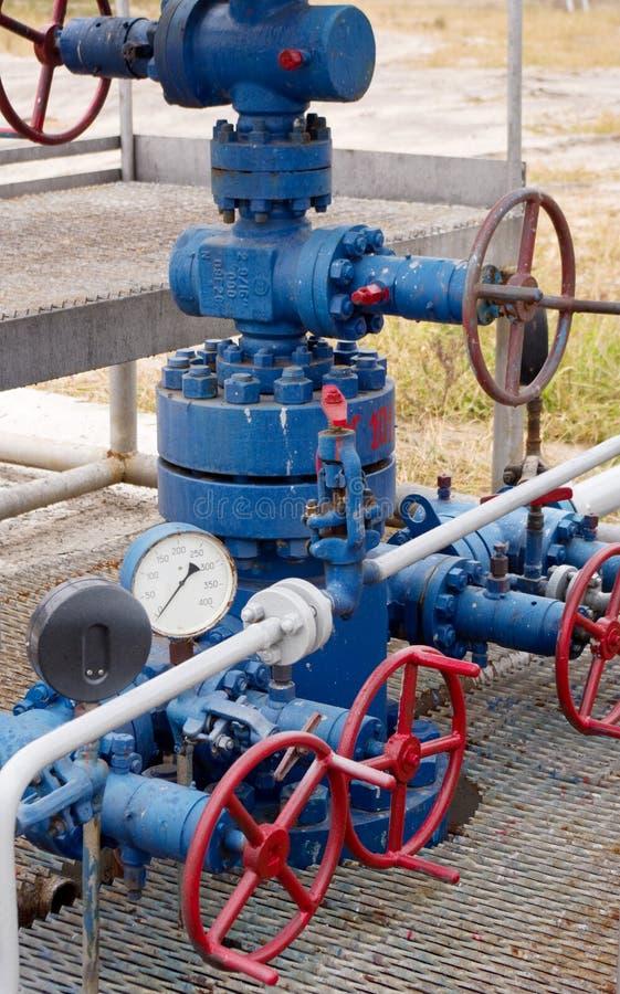 De klink van het gas stock foto