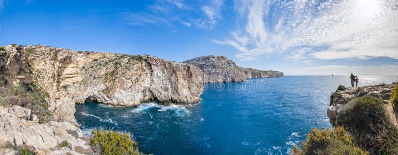 De klippen Dingli in Malta stock afbeelding
