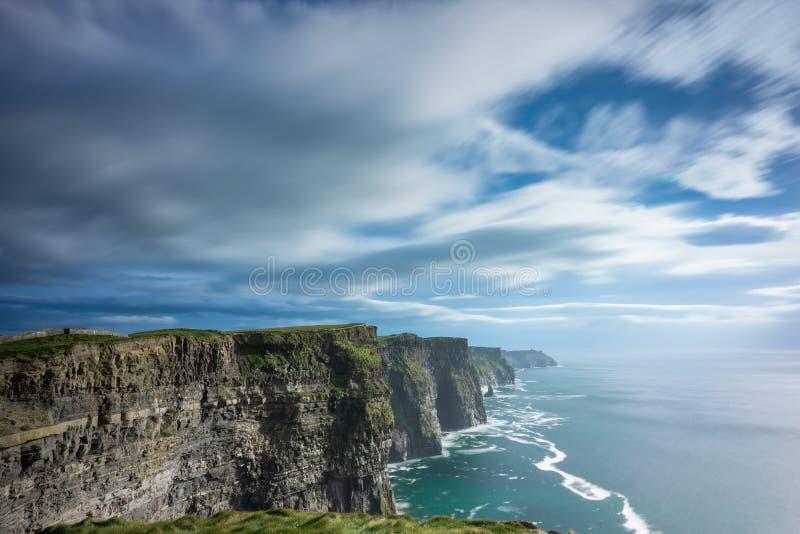 De Klippen van Moher, Provincie Clare, Ierland stock foto