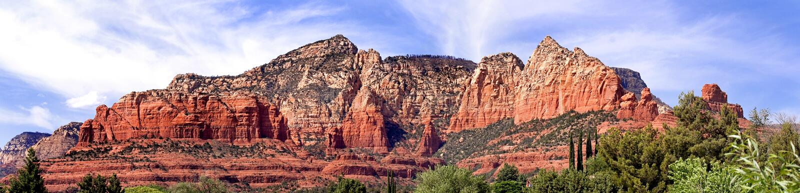 De klippen van Sedona, Arizona, de V.S. royalty-vrije stock afbeeldingen